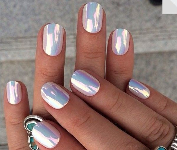 Holographic Nails Nail Stickers Accessories Polish Hippie Rad Metallic Colorful Pinterest Art And