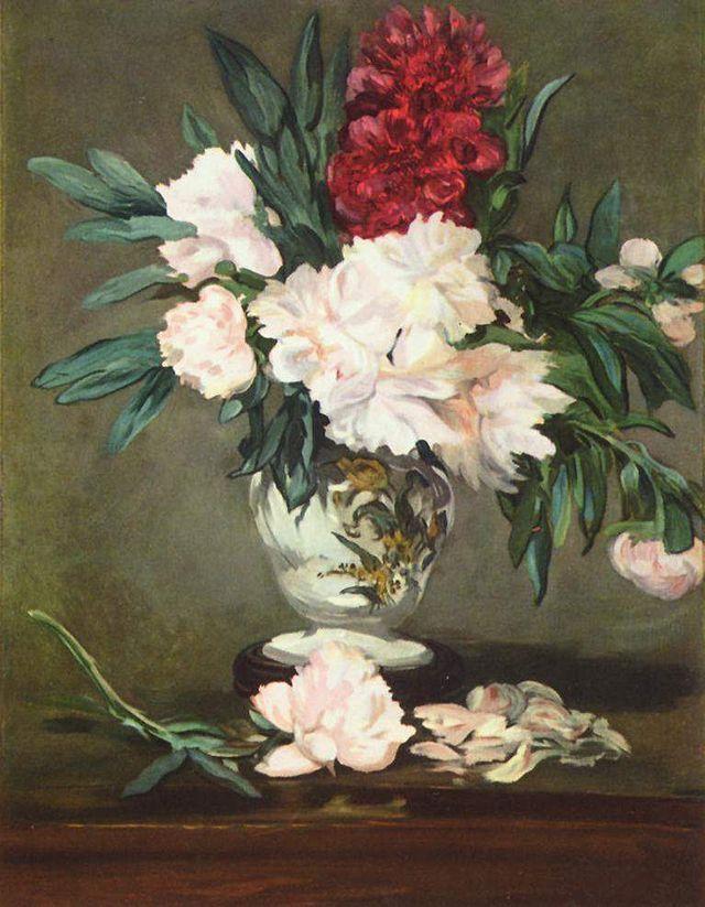 Édouard Manet - Vase de pivoines sur piédouche