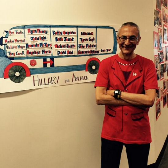 'TRYING to out-creep Jim Messina?' John Podesta goes all-out to promote Hillary [photo]