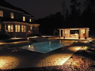 Relax In Your Pool Longer With Pool Area Lighting