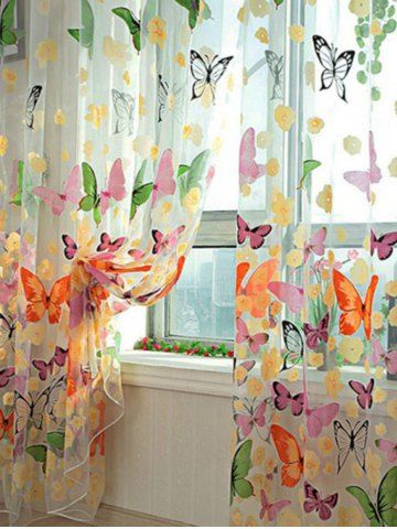 GET $50 NOW   Join RoseGal: Get YOUR $50 NOW!http://www.rosegal.com/bedding-sets/butterfly-print-voile-curtain-for-1065295.html?seid=3634767rg1065295