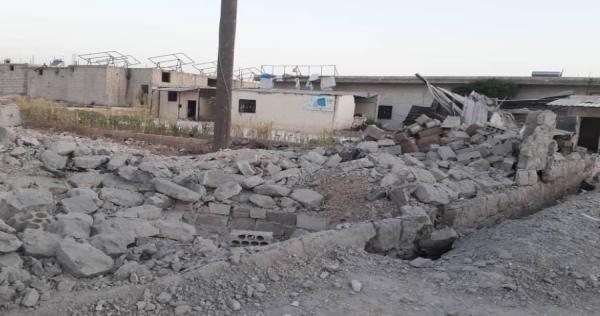 الطائرات الروسية تدمر مشفى الغدفة جنوب شرق إدلب وتوقع جرحى