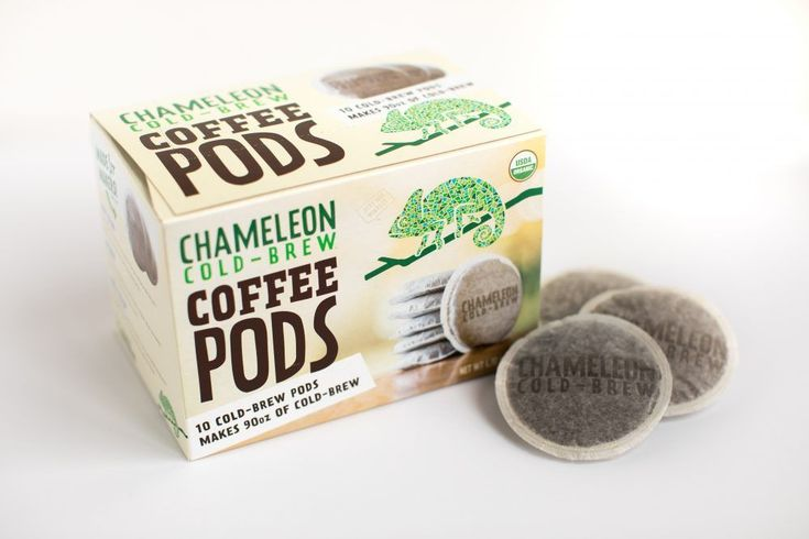 Chameleon Cold-Brew Coffee Pods mean fresh cold-brew on your time, whether you're mixing up a batch at home or on the road. Just add the cold-brew pod to water and steep in the refrigerator overnight. The result is a super smooth, low acid, organic cold-brew coffee that is completely customizable. Chameleon Cold-Brew Coffee Pods comes … #coffeepods