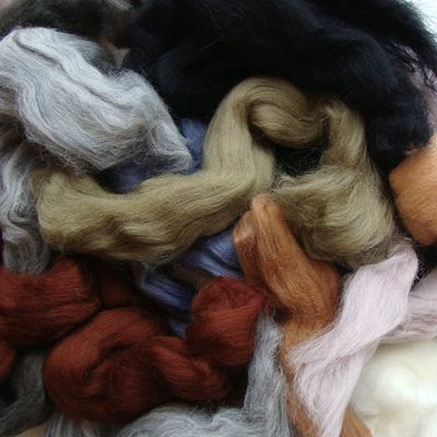 Merino Wool Roving - Earth Tones from New England Felting Supplies. How did we find these covetable rovings? Through Felt magazine of course! www.artwearpublications.com.au