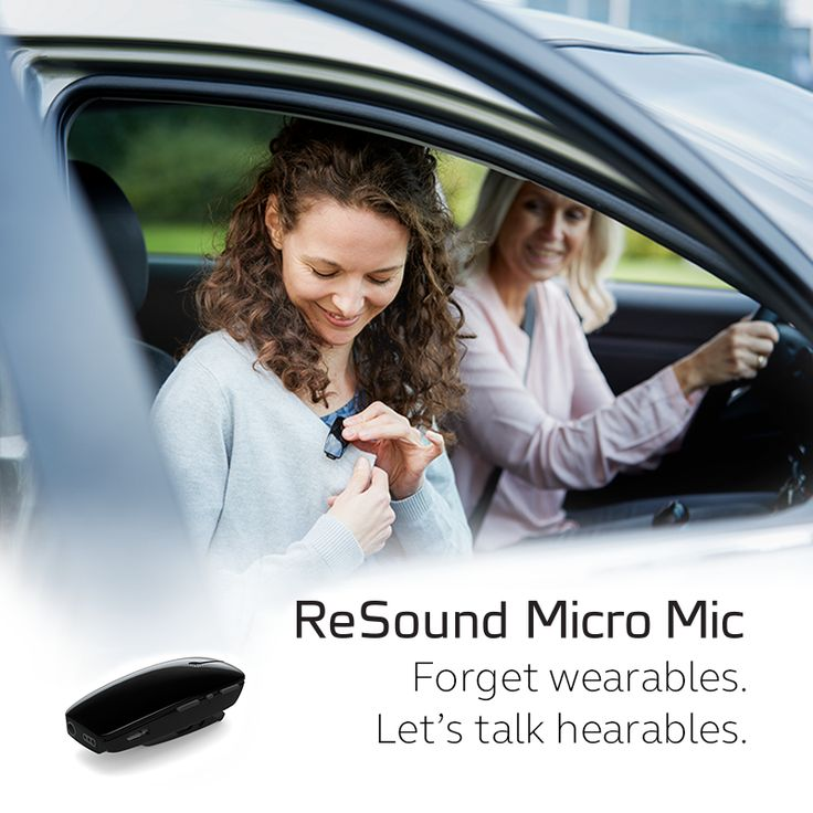 ReSound Micro Mic. Forget wearables. Let's talk hearables.  Visit resound.com/en-AU/hearingaids/accessories/micro-and-multi-mic