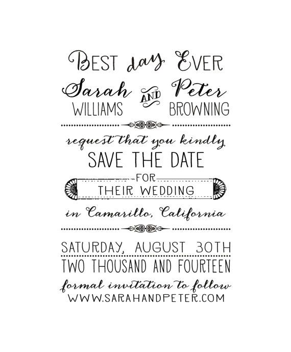 117 best save the date invites images on pinterest wedding best day ever save the date stamp stopboris Images