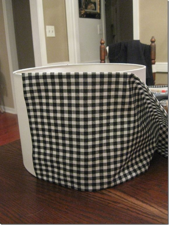 DIY black & white lampshade