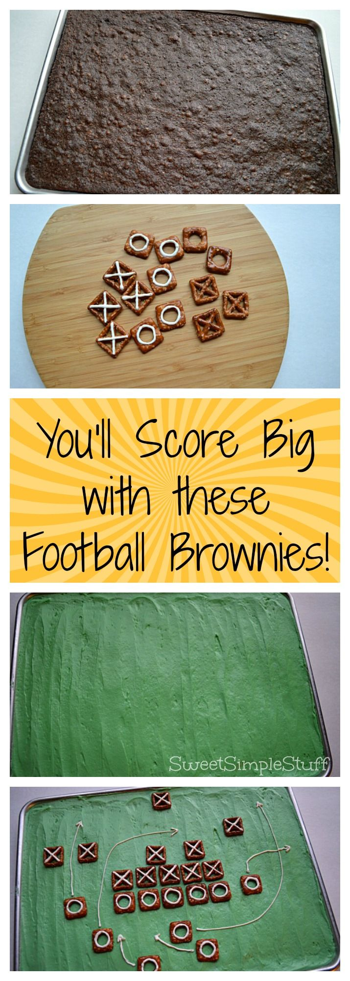 Score Big Football Brownies - SweetSimpleStuff