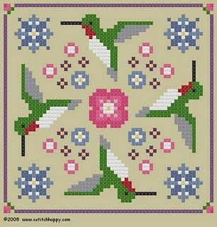 Simple free charts from Cross Stitch Happy