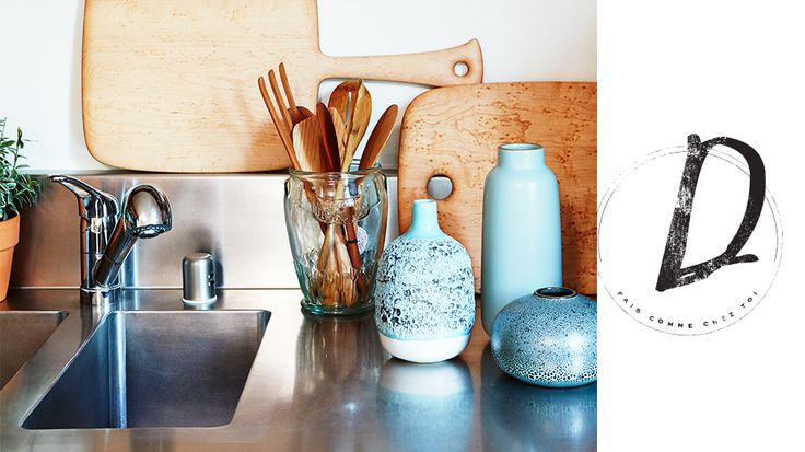 I like the idea of a beautiful vase of pretty wooden spatulas in the kitchen