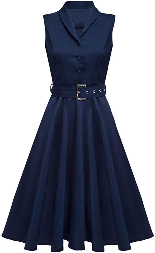 Zaful Mujer Vintage Vestidos Anos 50 De Fiesta Tallas Grandes Azul L Amazon Es Ropa Y Accesorios En 2020 Vestidos De Los Anos 50 Tipos De Vestidos Ropa Y Accesorios