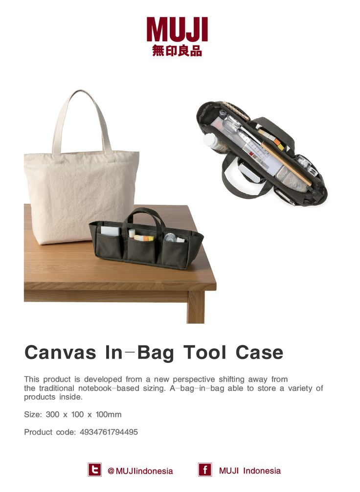 [Canvas In-Bag Tool Case] Easy way to store a variety of products inside and will keep your bag in organize.