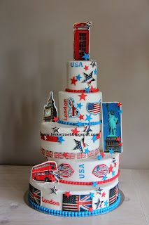 lekker zoet: Engeland- America taart voor Indy 14 jaar