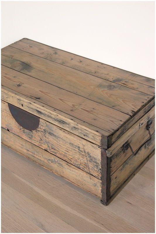 Landelijke kist oud grenen | Kisten | Maison Patine