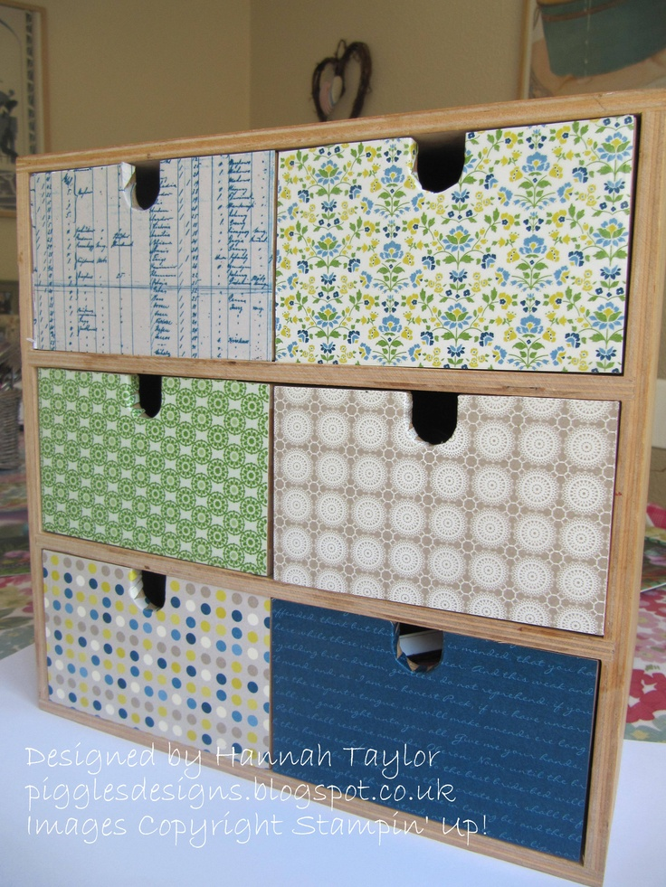 Decoupage Drawers using Print Poetry DSP stack
