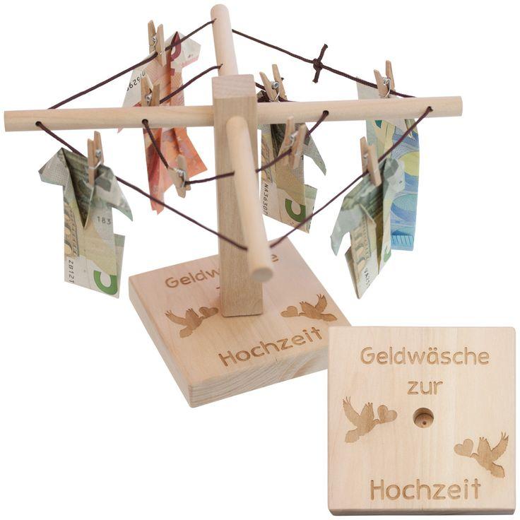 Originelles Geldgeschenk - Wäschespinne Gravur: auf Wunsch gravieren wir den Sockel. Geldgeschenk: Scheine mit Origami einfach als Hemd oder Kleid falten. Dekorativ: lässt sich mit wenig Aufwand dekorieren....