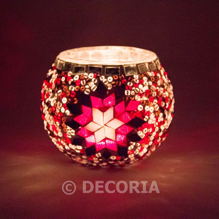 Candle Holder - Pink & Red - DECORIA HOME & GIFT