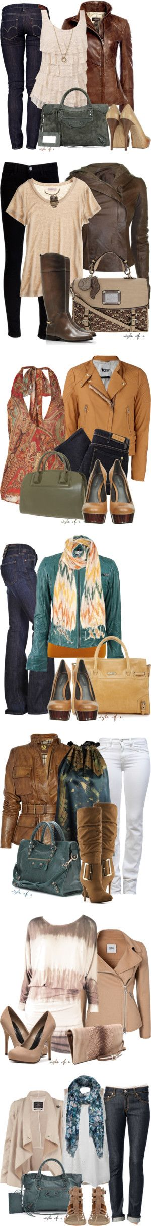 """""""Leather Jackets"""" by styleofe on Polyvore"""