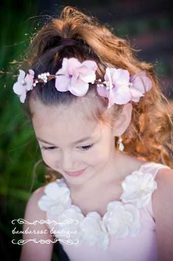 flower girl hair accessories flower girl by BambaroosBoutique, $38.50