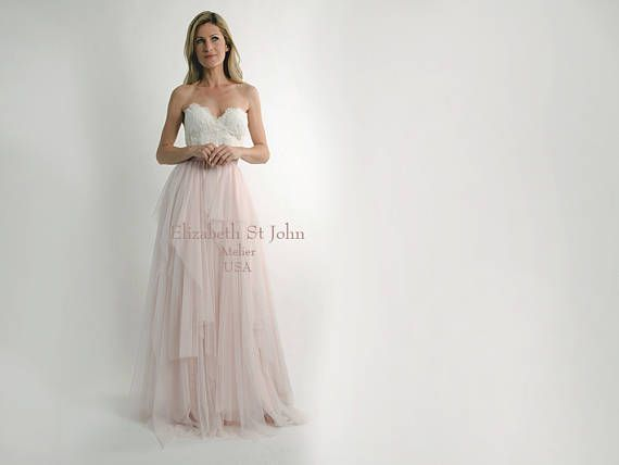 KENSINGTON SKIRT - 2018 Separates - hand tiered English tulle ballgown skirt - bridal separates - romantic bride   regular or plus sizes