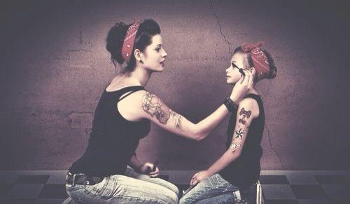 Mor, datter kjærlighet