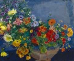 Sluijters J.C.B., Kleurrijke bloemen, olie op doek 60 x 72,9 cm.