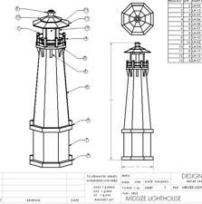 LIGHTHOUSE PLANS MIDSIZE 58 INCH TALL - WOOD DIY