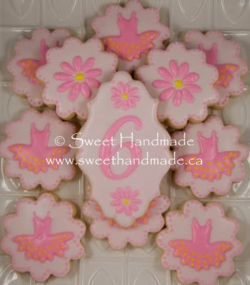 Sweet Handmade Cookies - ballet cookies to celebrate a 6th birthday.