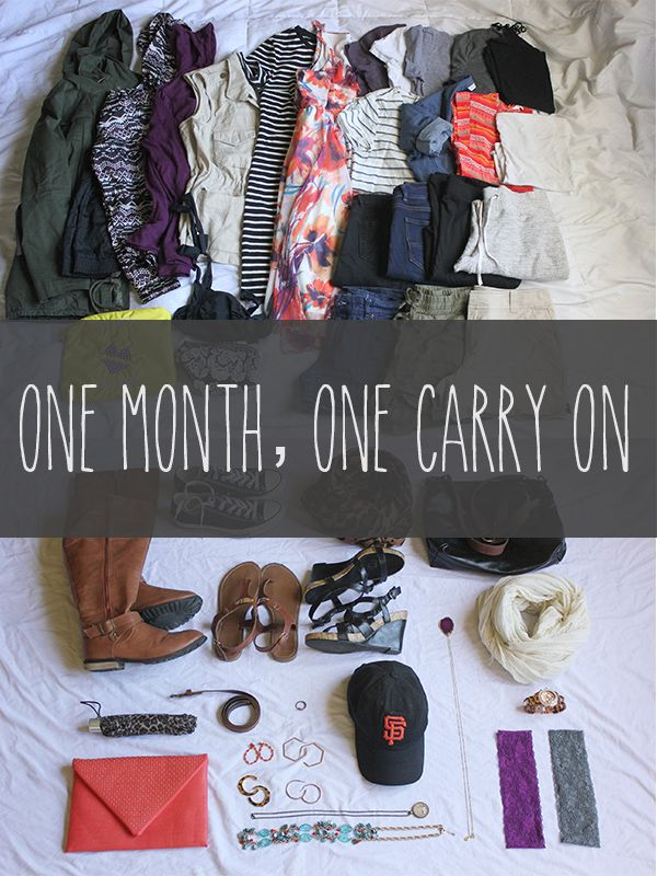 How to Pack for One Month in a Carry On | Tall Drink of Chloe