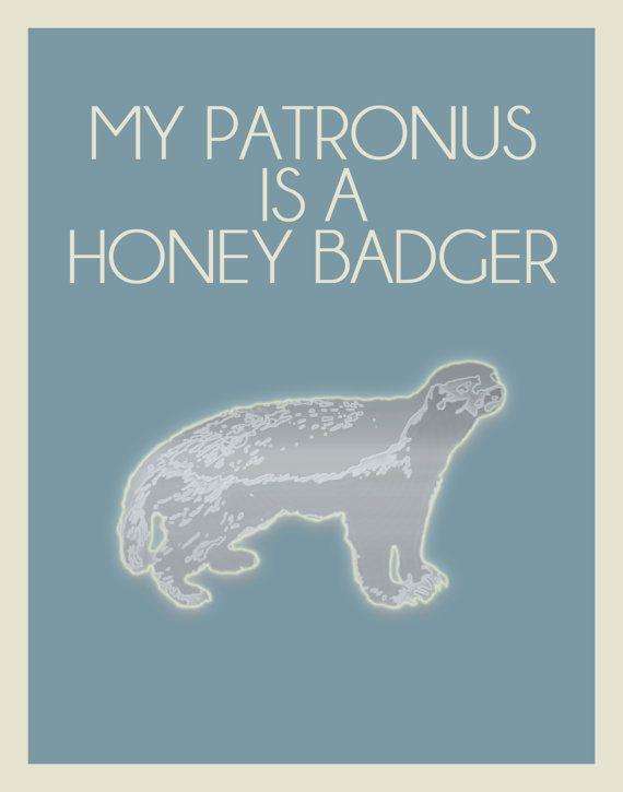 AccurateMinimalist Posters, Badger 11, Patronus, Inspiration Minimalist, Funny, Harry Potter, Honey Badger, Potter Inspiration, Honeybadger