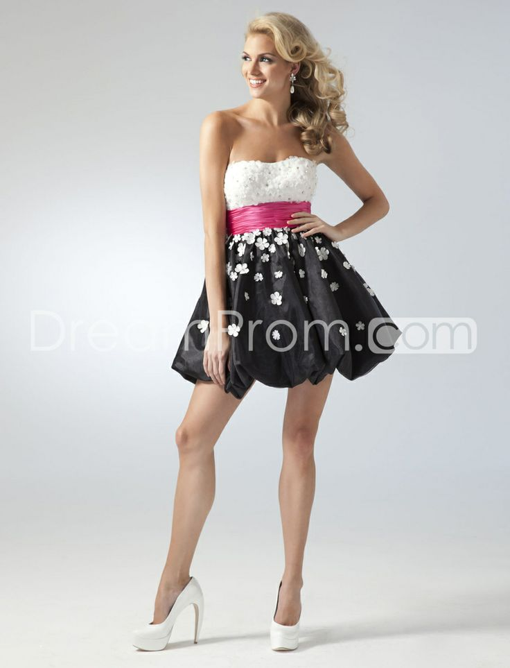 Mini/Short Strapless Prom/Cocktail Dresses