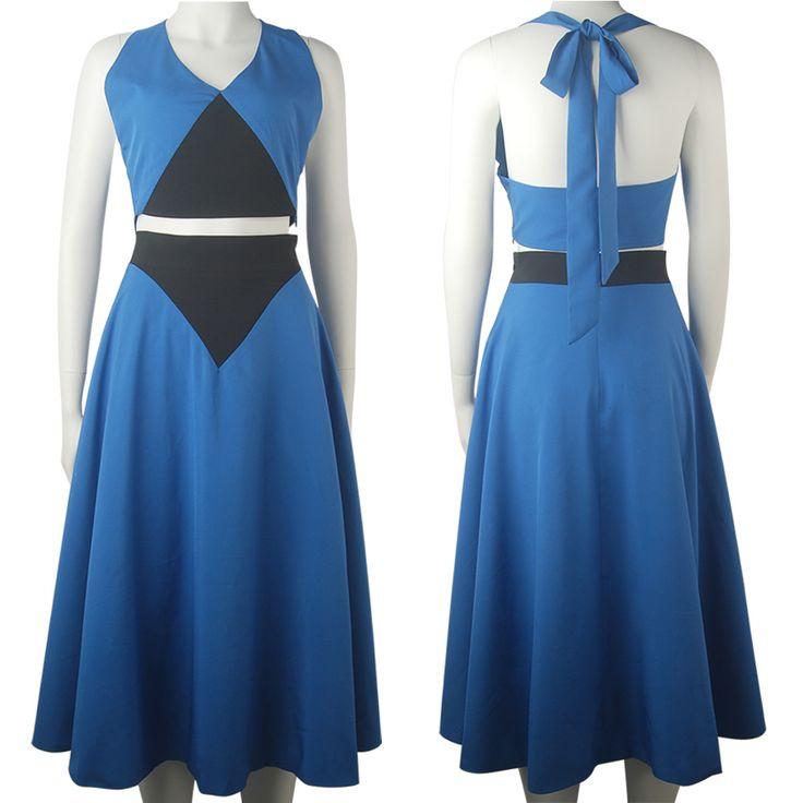 Steven Universe Lapis Lazuli Blue Dress Halloween Cosplay Costume Daily Wear