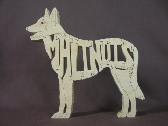 Belgian Malinois Dog Puzzle Wooden Toy Amish Made by Puzzimals, $12.00