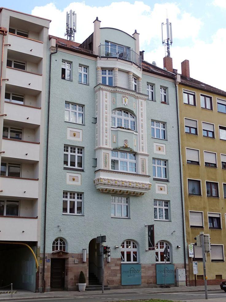 Nürnberg, Bayreuther Straße 70 (1909, arch. ?), fot. PK