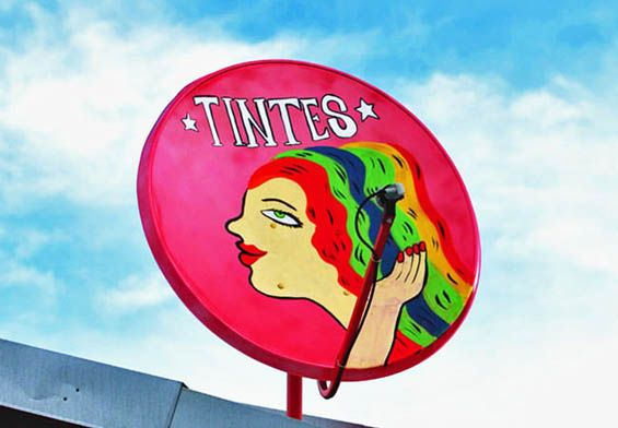 Claro - satellite dish billboards