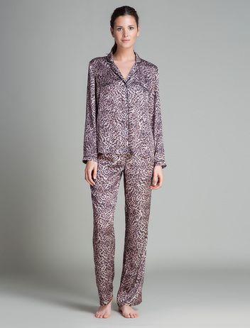 women'secret | Productos | Pijama largo de satén de estilo masculino
