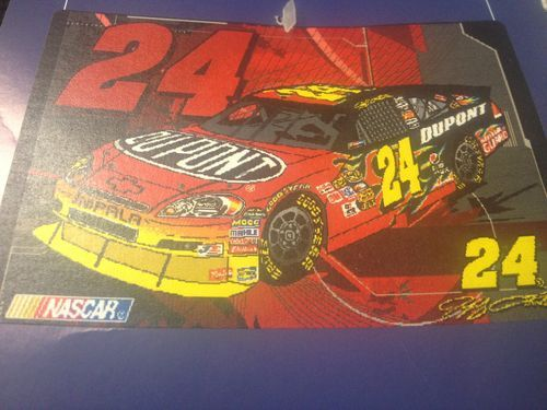 Jeff Gordon Woven Tapestry Throw - This Jeff Gordon woven tapestry throw is perfect to complete your No. 24 pride theme in your house! Place your bid today to add a hint of shine to your Jeff Gordon collection. *Throw is not pictured completely unwrapped so that the product could stay in original state.