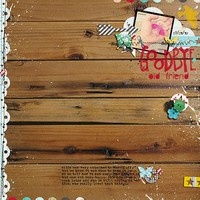 Goodbye by mrsski07 @ 2peas - love the border on wood grain