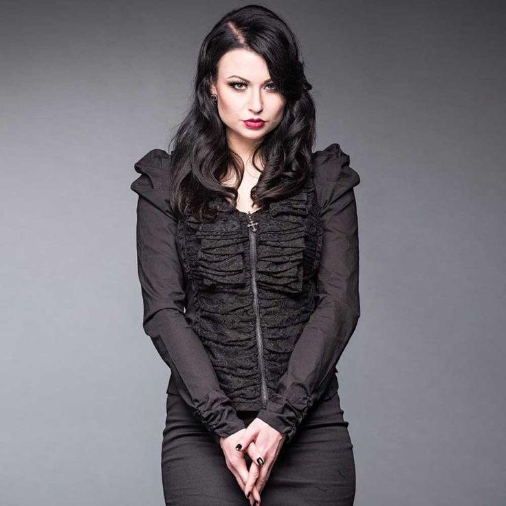 Queen of Darkness Geplooide en kanten Gothic Steampunk Victoriaanse ca