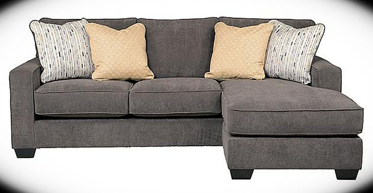 "Sofa Chaise Hodan Marble Width: 93"" Height: 38"" Depth: 64"" With the sleek contemporary look of the stylish set-back track arms and dark finished tapered block feet, this sofa chaise features a reversible chaise sofa and a storage cocktail with cube ottomans that adds to the exciting design of this piece."