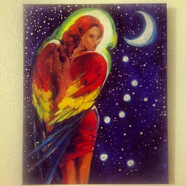 The Seven Macaw Constellation Goddess Painting by artist Katana Leigh.