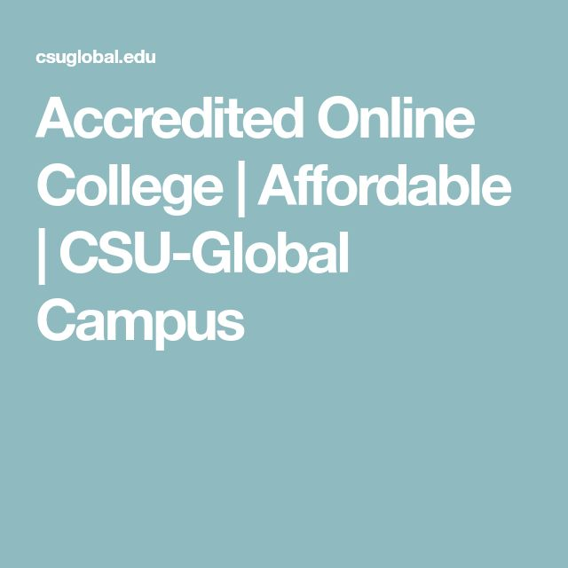 Accredited Online College | Affordable | CSU-Global Campus