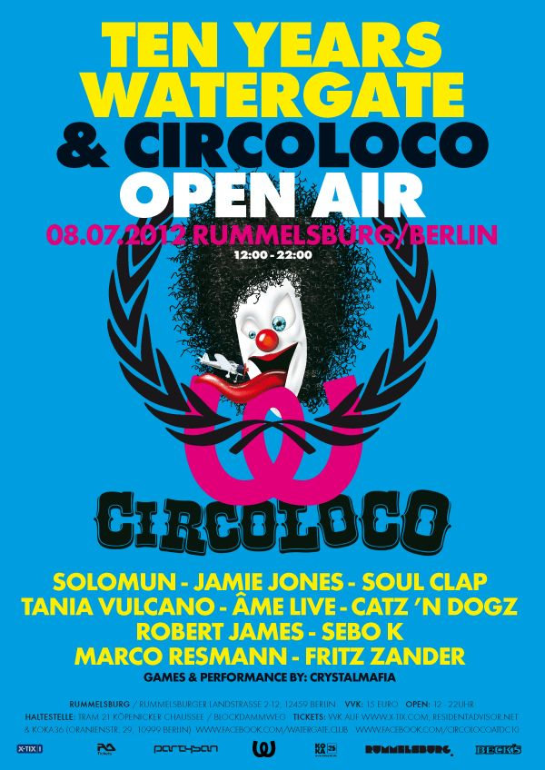 View the TEN Years Watergate & Circoloco Open AIR flyer