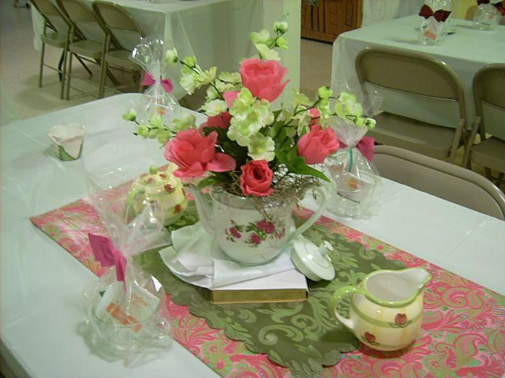 Church Banquet Centerpiece Ideas : Even more decorations ideas church tea party pinterest