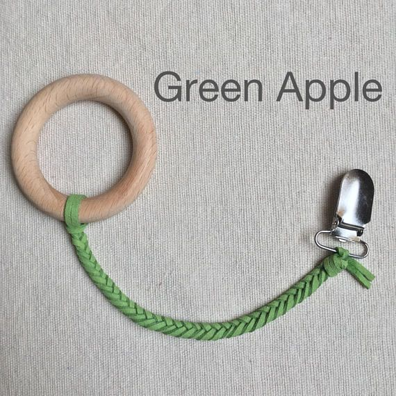Green Apple Soother Clip