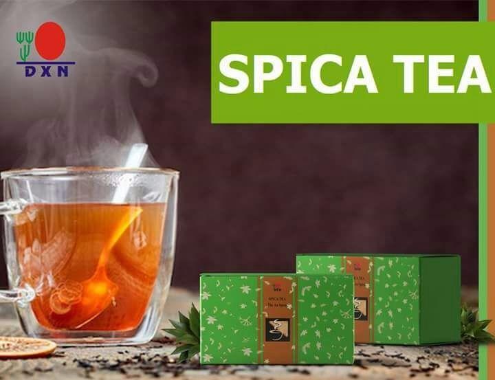 DXN presenta orgogliosamente DXN Spica Tea costituito dalla miscela di 5 piante officinali estremamente valide: 1. Spica Prunellae – Abbassa la temperatura corporea. 2. Pericarpium Citri Reticulatae (buccia di mandarino) – Scioglie il catarro. 3. Herba Menthae (menta piperita) – Aiuta la digestione. 4. Radix Glycyrrhizae (Gan Cao) – Ha un effetto depurativo e rilassa gli organi respiratori. 5. Ganoderma lucidum – Cura il fegato e aiuta le sue funzioni disintossicanti…