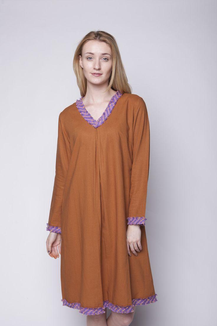 Lekat A-line Dress Cokelat