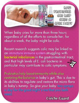 Colic Babies. Probiotics. Crecheguard