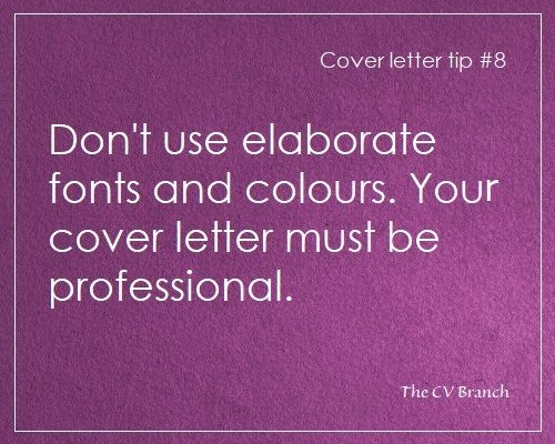 Cover letter tip #8