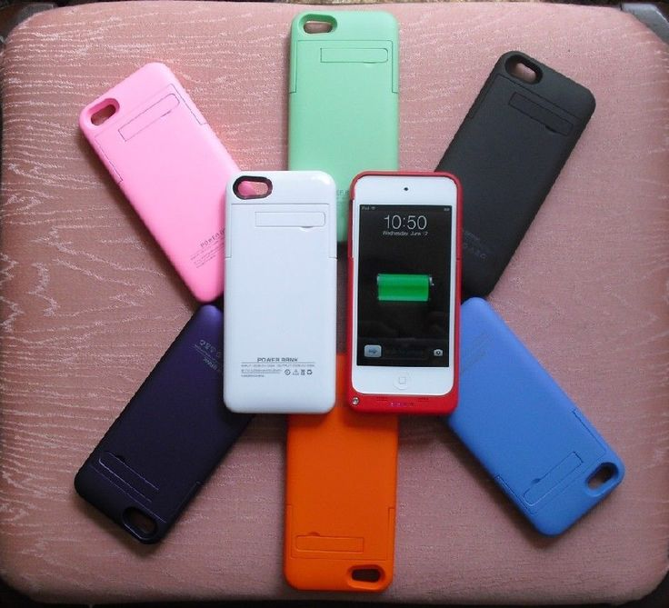 2200 mAh Battery Case Cover Portable Power for iPod touch 5 5th Gen Black/+ #JuicePack